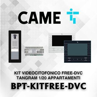 Picture of BPT KIT FREE-DVC TANGRAM 1/20 APPARTAMENTI  VIDEOCITOFONICO