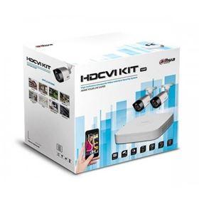 Immagine di Kit 4 canali HDCVI con 2 IR camera + HDD 1TB